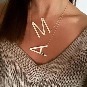🎉New minimalist Initial letter necklace